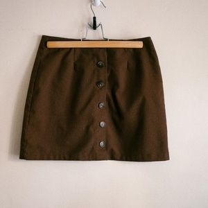 Forever 21 Button Up Brown Skirt